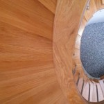 Curved oak stairs