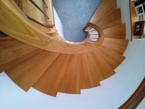 Oak, curved, stairs, staircase, ireland