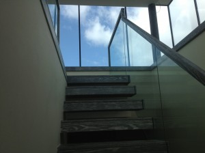 stairs ireland, cantilever, staircase, oak, glass, JEA,Ireland.