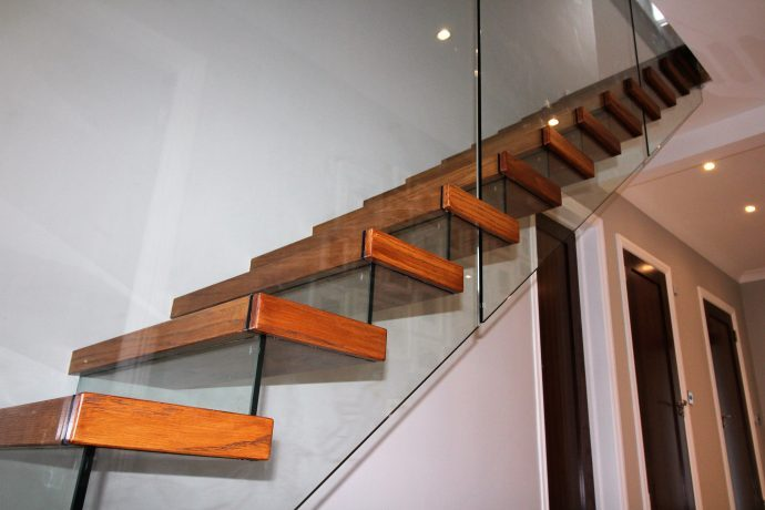 Glass stairs Cantilevered-Stairs-with-glass risers