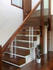 Hardwood stairs ireland with glass balustrade ireland