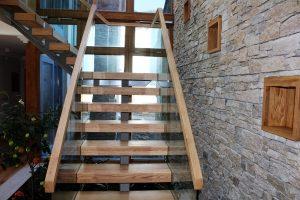 Hardwood mono string stairs Ireland