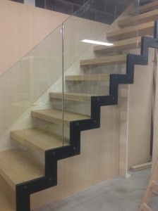 Aztech oak & glass stairs