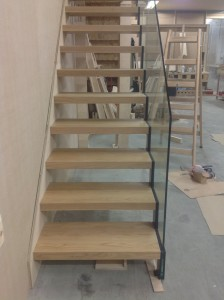 Aztech Stairs in Oak and Glass