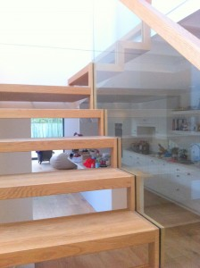 custom made bespoke stairs ireland with open risers