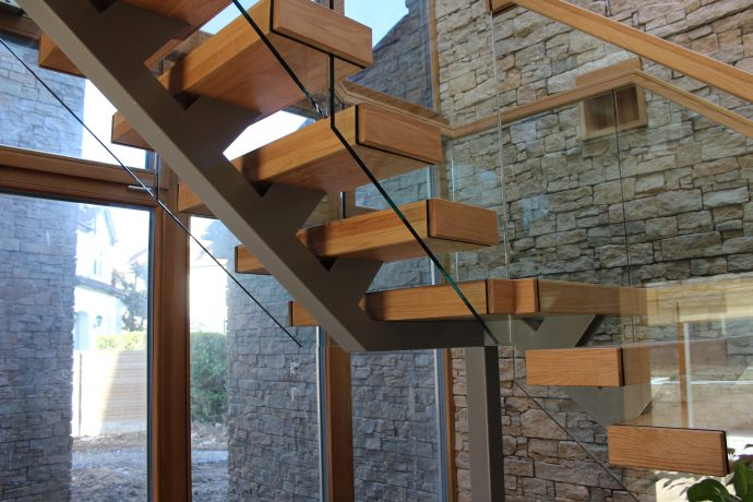 modern custom treads stairs ireland