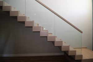Ziz zag modern stairs with glass, stairs ireland balustrade
