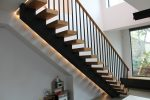 Mono String Modern Stairs with curved handrail