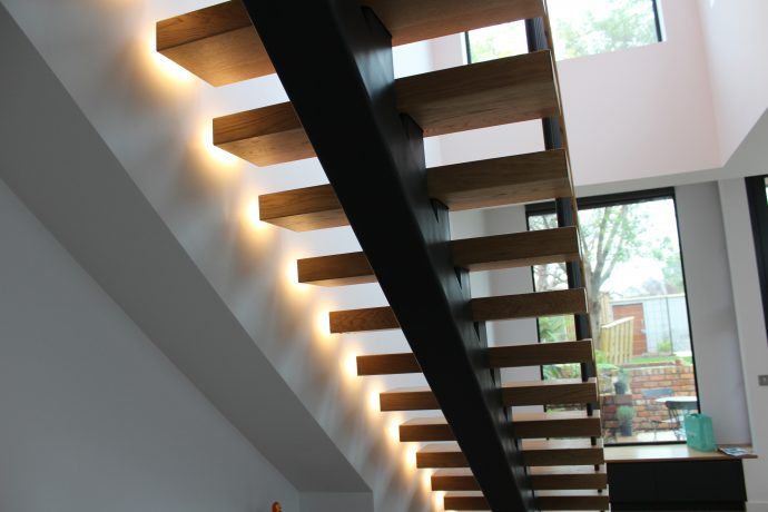 Modern Stairs with Open treads