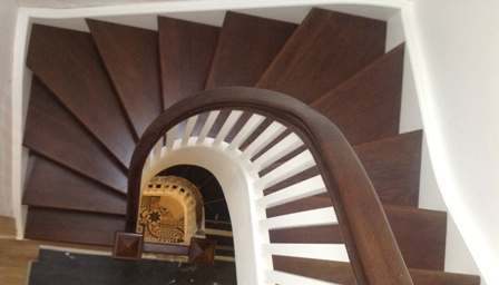 Awesome For Aesthetic As We Curved Staircase For Attic Refurb