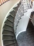 Traditional cut string curved stairs