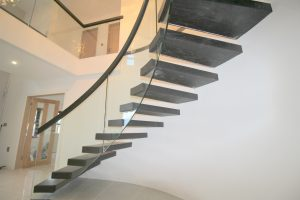 modern cantilevered stairs