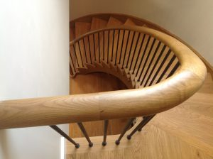 Timber and wrought iron balustrade stairs ireland balustrade