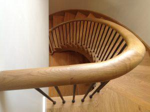 Timber and wrought iron balustrade stairs ireland balustrade