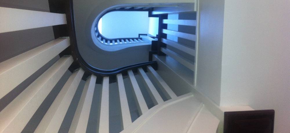 Painted Curved Staircase