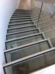 Stairs Ireland, Cantilevered curved stairs with glass treads