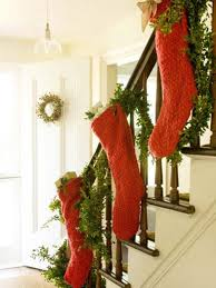 Hang your stockings on the stairs for Santa