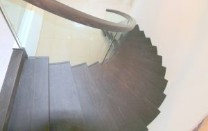 modern curved stairs