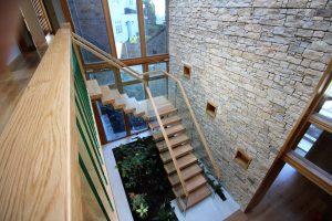 mono string oak stairs