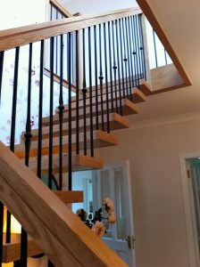 modern open rise stairs ireland balustrade