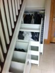 traditional stairs with storage